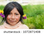 beautiful native american... | Shutterstock . vector #1072871408