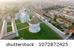 square of miracles  pisa.... | Shutterstock . vector #1072872425