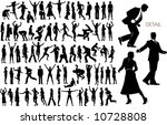 73 vector silhouettes of people ... | Shutterstock .eps vector #10728808