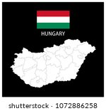 map and national flag of... | Shutterstock .eps vector #1072886258