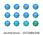 sale tags set vector badges... | Shutterstock .eps vector #1072886348