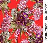 primula flowers seamless...   Shutterstock . vector #1072886945