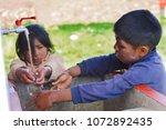 Two Native American Children...