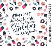 unique hand drawn quote ... | Shutterstock .eps vector #1072893335