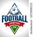vector football emblem on white ... | Shutterstock .eps vector #1072900172