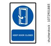 keep door closed symbols ... | Shutterstock .eps vector #1072901885