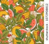 summer food seamless pattern.... | Shutterstock .eps vector #1072908812