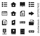 flat vector icon set   book...