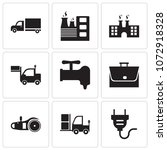 set of 9 simple editable icons... | Shutterstock .eps vector #1072918328