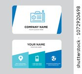 contract business card design...   Shutterstock .eps vector #1072920698