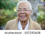 an elderly women smiling | Shutterstock . vector #107292638