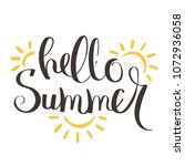 hello summer vector... | Shutterstock .eps vector #1072936058