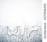 creative white circuit... | Shutterstock . vector #1072936292