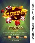 golden text jackpot with 3d... | Shutterstock .eps vector #1072941236