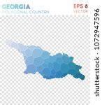 georgia polygonal  mosaic style ... | Shutterstock .eps vector #1072947596