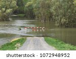 road closed due to river... | Shutterstock . vector #1072948952