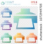 print geometric polygonal icons.... | Shutterstock .eps vector #1072949705