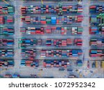 container aerial scenery | Shutterstock . vector #1072952342