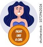 cheerful superhero woman... | Shutterstock .eps vector #1072962026