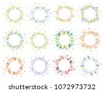 cute and elegant vector floral... | Shutterstock .eps vector #1072973732