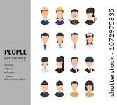 peolple community set | Shutterstock .eps vector #1072975835