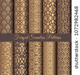 luxury seamless patterns... | Shutterstock .eps vector #1072982468