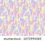 geometric fantasy landscape... | Shutterstock .eps vector #1072994285