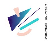colorful geometric avant garde... | Shutterstock .eps vector #1072995875