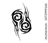 tribal tattoo vector designs... | Shutterstock .eps vector #1072999166