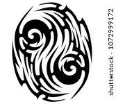 tribal tattoo vector designs... | Shutterstock .eps vector #1072999172