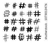set of hashtag signs. number... | Shutterstock .eps vector #1073013476