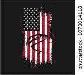 grunge usa flag fishing vector...   Shutterstock .eps vector #1073014118