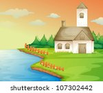 illustration of a house on the... | Shutterstock .eps vector #107302442