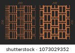 laser cutting interior set....   Shutterstock .eps vector #1073029352