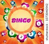 background of lottery balls... | Shutterstock .eps vector #1073040542
