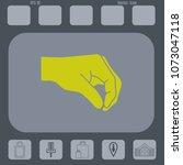 human hand giving something... | Shutterstock .eps vector #1073047118