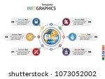 modern infographics template ... | Shutterstock .eps vector #1073052002