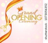grand opening ceremony poster...   Shutterstock .eps vector #1073056352