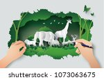 concept of hand drawing with... | Shutterstock .eps vector #1073063675