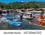 coron palawan philippines april ...   Shutterstock . vector #1073066702