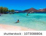 coron palawan philippines april ...   Shutterstock . vector #1073088806