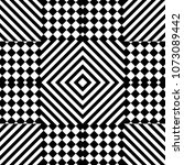 seamless pattern with striped... | Shutterstock .eps vector #1073089442