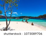 coron palawan philippines april ...   Shutterstock . vector #1073089706