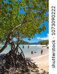 coron palawan philippines april ...   Shutterstock . vector #1073090222