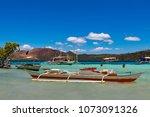 coron palawan philippines april ...   Shutterstock . vector #1073091326