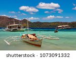 coron palawan philippines april ...   Shutterstock . vector #1073091332