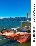 coron palawan philippines april ...   Shutterstock . vector #1073092136