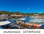 coron palawan philippines april ...   Shutterstock . vector #1073092142
