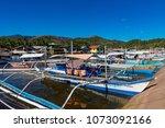 coron palawan philippines april ...   Shutterstock . vector #1073092166
