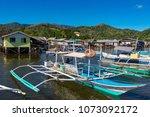 coron palawan philippines april ...   Shutterstock . vector #1073092172